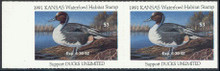 Kansas Duck Stamp 1991 Pintail Hunter pair