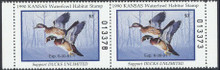 Kansas Duck Stamp 1990 Wood Ducks Hunter pair