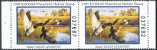 Kansas Duck Stamp 1989 Mallards Hunter pair