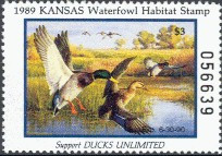 Kansas Duck Stamp 1989 Mallards