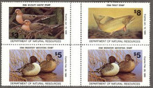 Iowa Duck Stamp 1988 Pintail Block of four