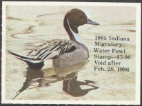 Indiana Duck Stamp 1985 Pintail