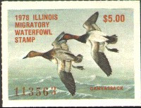 Illinois Duck Stamp 1978 Canvasbacks