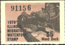 Illinois Duck Stamp 1976 Wood Ducks