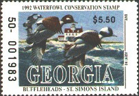 Georgia Duck Stamp 1992 Buffleheads