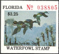 Florida Duck Stamp 1985 Wood Ducks