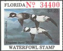 Florida Duck Stamp 1983 Buffleheads