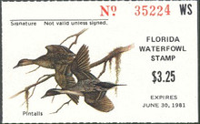 Florida Duck Stamp 1980 Pintails