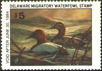 Delaware Duck Stamp 1983 Canvasbacks