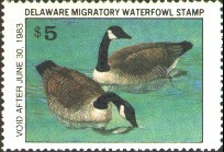 Delaware Duck Stamp 1982 Canada Geese