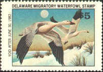 Delaware Duck Stamp 1981 Snow Geese