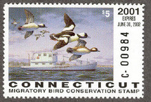 Connecticut Duck Stamp 2001 Buffleheads (Serial # C)