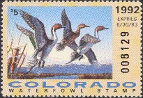 Colorado Duck Stamp 1992 Pintails