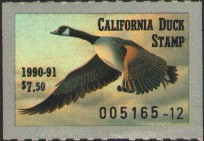 California Duck Stamp 1990 Canada Goose