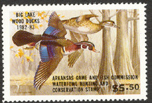 Arkansas Duck Stamp 1982 Wood Ducks Hunter Type Extra Fine XF