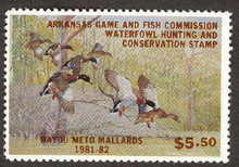 Arkansas Duck Stamp 1981 Mallards
