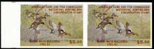 Arkansas Duck Stamp 1981 Mallards Horizontal imperforate pair
