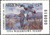 Arizona Duck Stamp 1994 Mallards