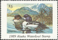 Alaska Duck Stamp 1989 Goldeneye
