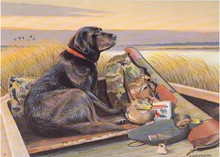 West Virginia Duck Stamp Print 1990 Black Labrador Ret. by Louis Frisino