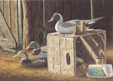 West Virginia Duck Stamp Print 1989 Decoys / Pintail / Mallard by Ronald J. Louque