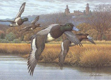 New Jersey Duck Stamp Print 1992 Greater Scaup by Rob Leslie Medallion Edition