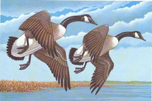 Mississippi Duck Stamp Print 1982 Canada Geese Geese by Jerry Johnson