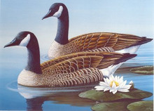 Georgia Duck Stamp Print 1987canada geese by James Partee, Jr.