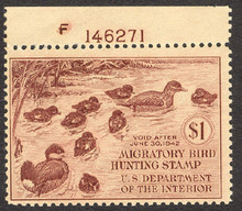 Federal Duck Stamp RW 8 ( 1941 Ruddy Ducks )