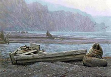 Old Whaling Base and Fur Seals by Robert Bateman