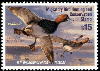 Federal Duck Stamp RW71 ( 2004 Redheads )