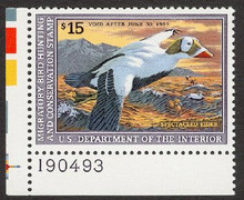 Federal Duck Stamp RW59 ( 1992 Spectacled Eiders )