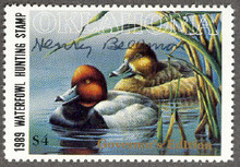 Oklahoma Duck Stamp 1989 Governor Edition Hand Signed