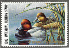 Oklahoma Duck Stamp 1989 Governor Edition