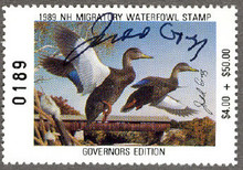 New Hampshire Duck Stamp 1989 Governor Edition Hand Signed