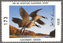 New Hampshire Duck Stamp 1987 Governor Edition