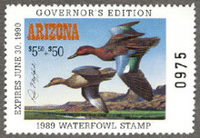 Arizona Duck Stamp 1989 Governor Edition