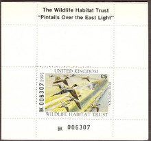 United Kingdom Duck Stamp 1991 Pintail Booklet type