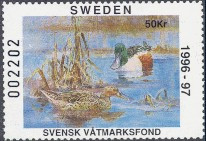 Sweden Duck Stamp 1996 Shoveler