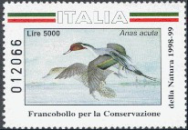 Italy Duck Stamp 1998 Pintail
