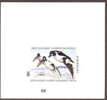 Denmark Duck Stamp 1995 Goldeneyes Imperforate Sheetlet