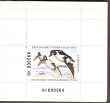 Denmark Duck Stamp 1995 Goldeneyes Booklet type