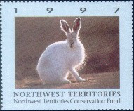 Northwest Territories Conservation Fund Duck Stamp 1997 Arctic Hare Booklet