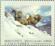 British Columbia Conservation Fund Duck Stamp 1995 Big Horn Sheep