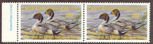 Canada Duck Stamp 1988 Pintails Horizontal pair with selvage