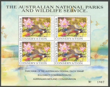 Australia Duck Stamp 1992 Australian Shovelers Mini Sheet of 4 Stamps