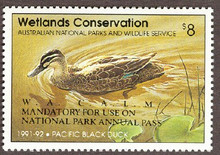 Australia Duck Stamp 1991 Pacific Black Duck Western Australia Overprint