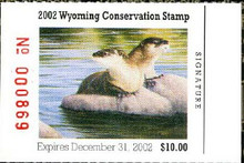 Wyoming Duck Stamp 2002 River Otter