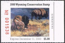 Wyoming Duck Stamp 2000 Buffalo