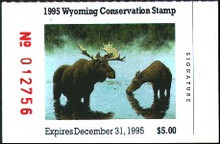 Wyoming Duck Stamp 1995 Moose